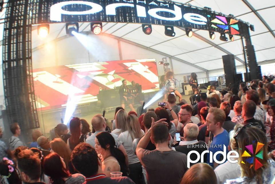 Birmingham Pride 2016 main stage