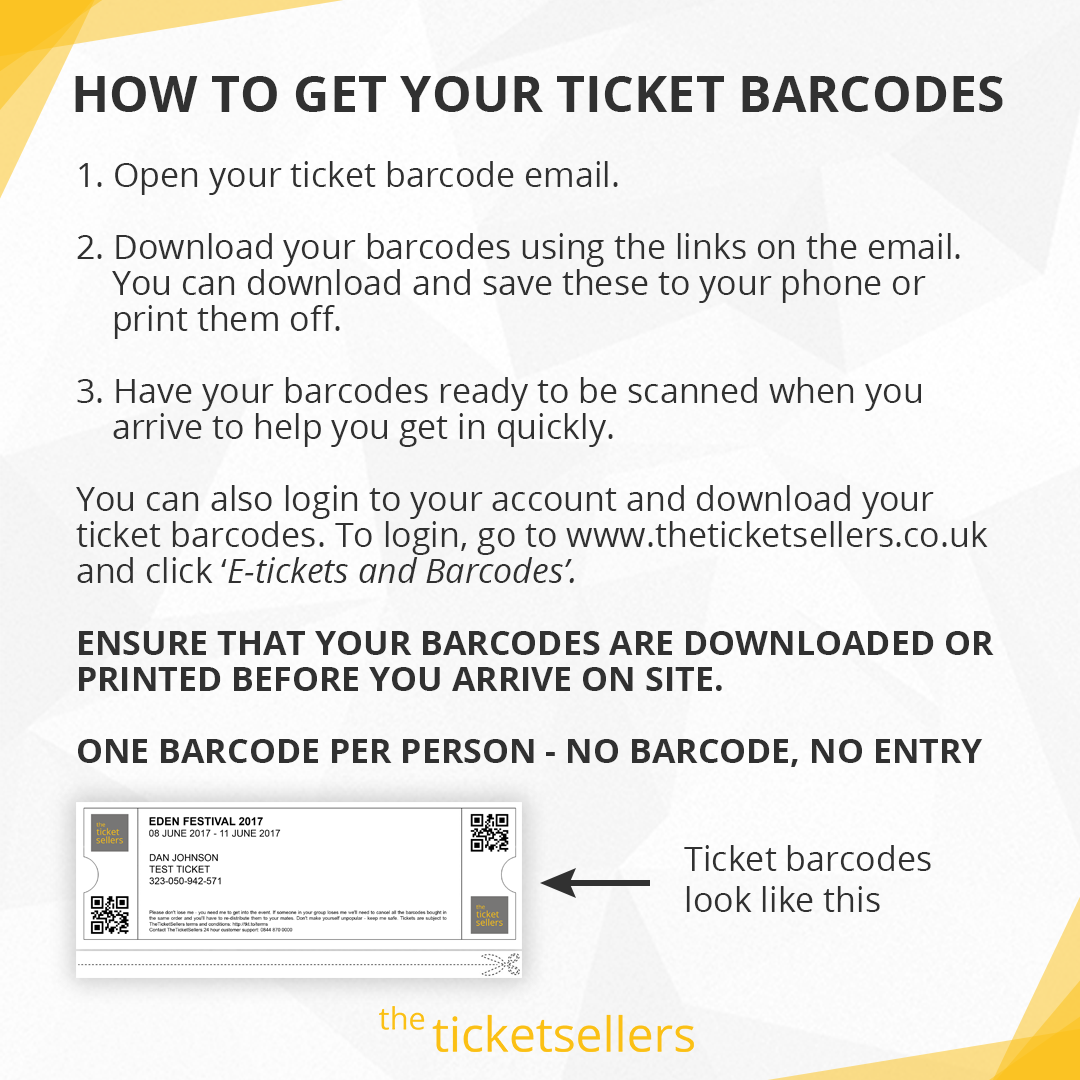 Get your barcodes