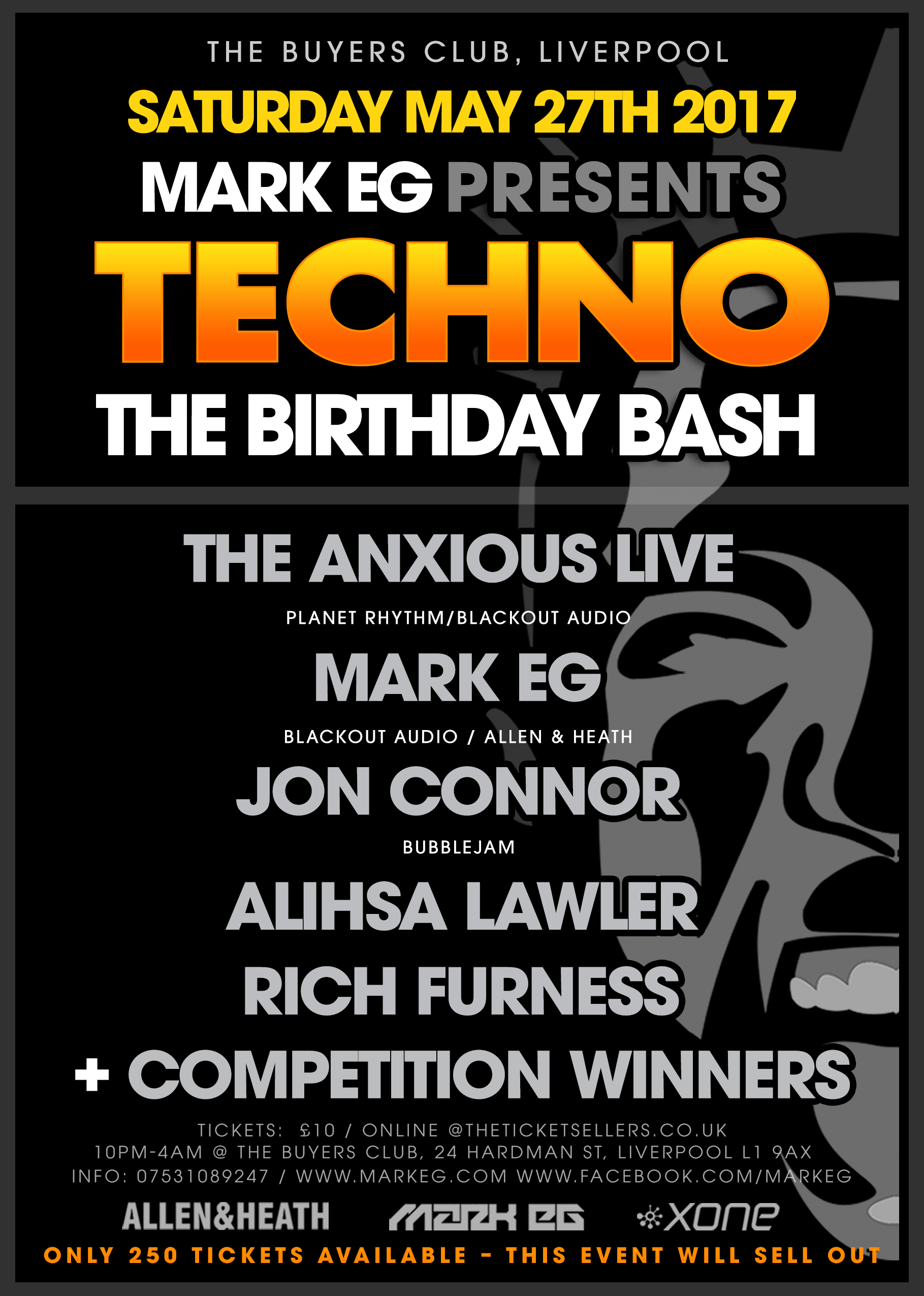 Mark Eg Presents Techno The Birthday Bash At The Buyers