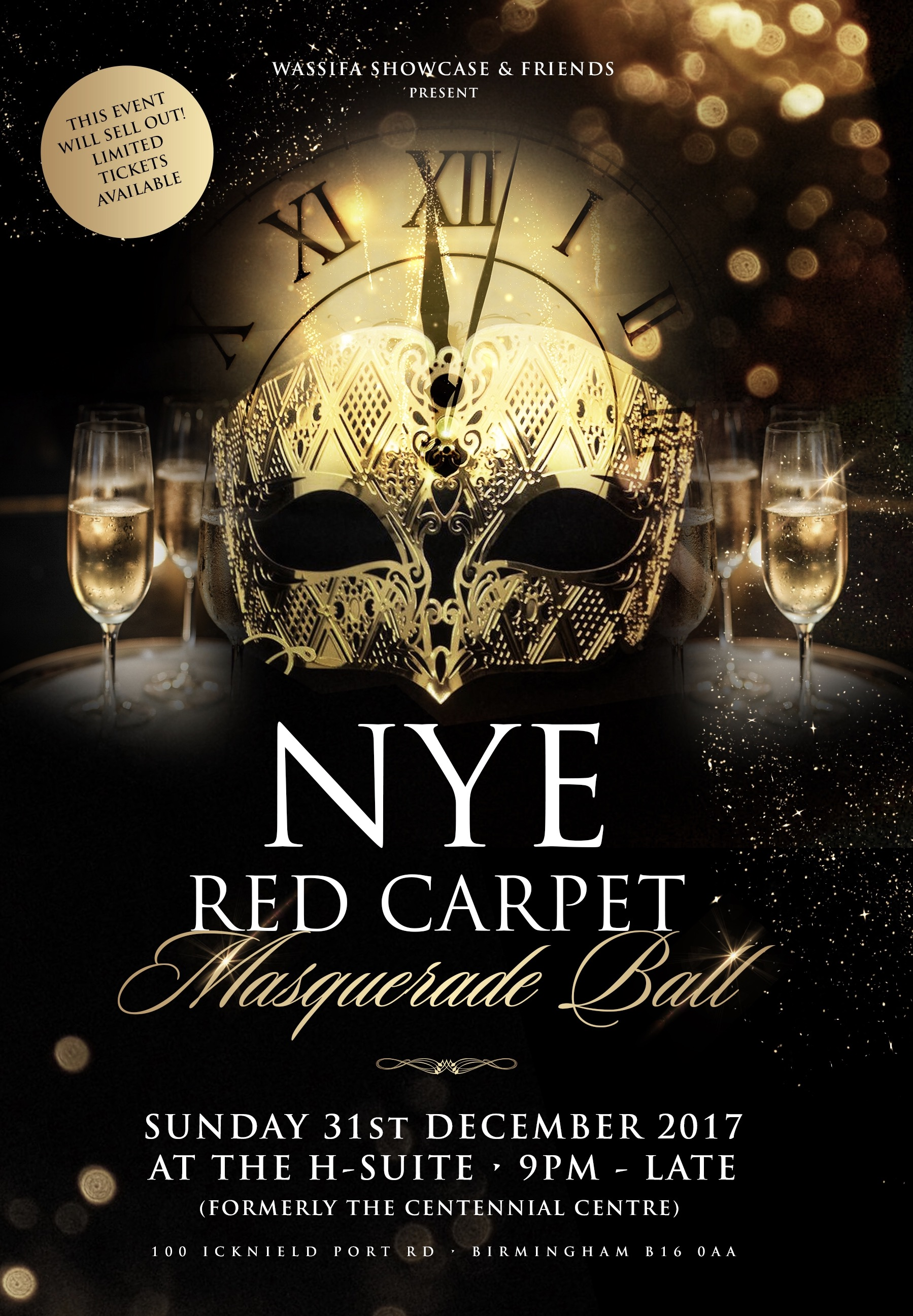 New Years Eve Red Carpet Masquerade Ball At The H Suite