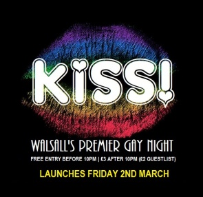 Kiss Gay Nights Walsall logo